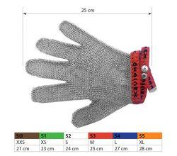 Ochranné kovové rukavice S3 Red