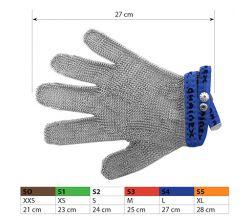 Ochranné kovové rukavice S4 Blue