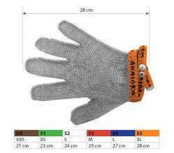 Ochranné kovové rukavice S5 Orange