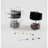 Špendlík ocel plast 200ks s magnetickým boxem