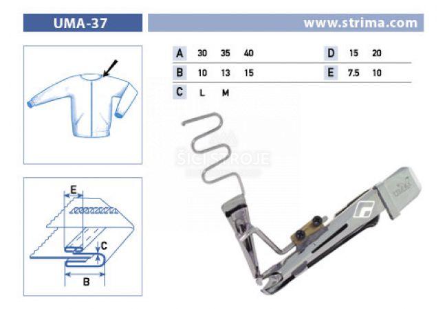 Zakladač pro šicí stroje UMA-37 35/13x15/7,5 L