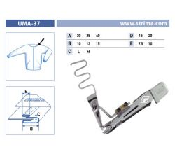Zakladač pro šicí stroje UMA-37 40/15x15/7,5 M
