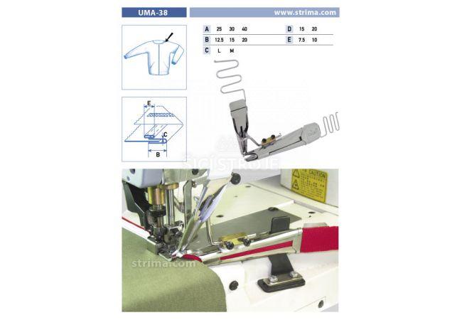 Zakladač pro šicí stroje UMA-38 40/20x20/10 L