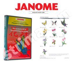 Kolekce výšivek Janome - Flowers & Butterflies