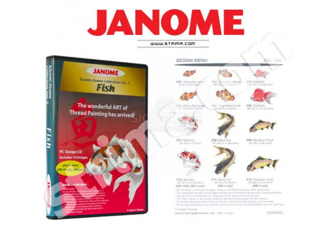Kolekce výšivek Janome - Fish