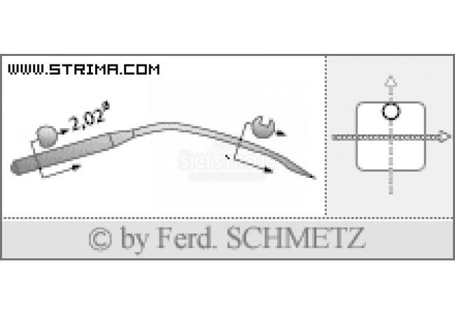 Strojové jehly pro průmyslové šicí stroje Schmetz 2140 TP 80