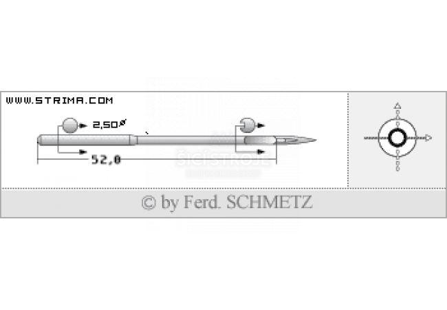 Strojové jehly pro průmyslové šicí stroje Schmetz 328 (R) 200