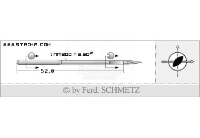 Strojové jehly pro průmyslové šicí stroje Schmetz 328 LR 180