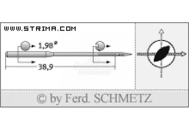 Strojové jehly pro průmyslové šicí stroje Schmetz 332 LR 130