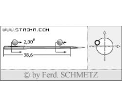 Strojové jehly pro průmyslové šicí stroje Schmetz 3550120