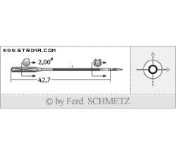 Strojové jehly pro průmyslové šicí stroje Schmetz 780 C 110