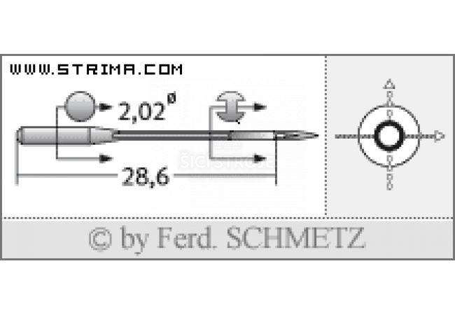 Strojové jehly pro průmyslové overlocky Schmetz B-27 65