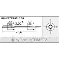 Strojové jehly pro průmyslové overlocky Schmetz B-27 75