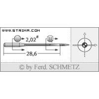 Strojové jehly pro průmyslové overlocky Schmetz B-27 SES 75