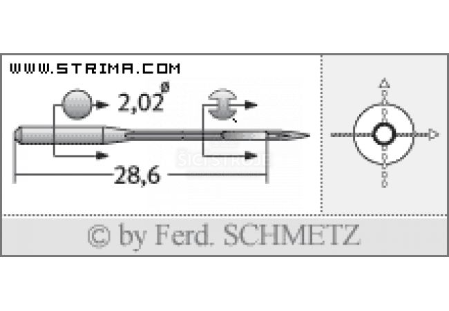 Strojové jehly pro průmyslové overlocky Schmetz B-27 SPI 70
