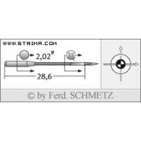Strojové jehly pro průmyslové overlocky Schmetz B-27 SUK 75