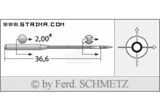 Strojové jehly pro průmyslové šicí stroje Schmetz B-64 100