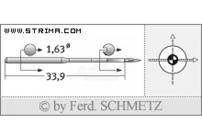 Strojové jehly pro průmyslové vyšívací stroje Schmetz DBXK5 SES 90
