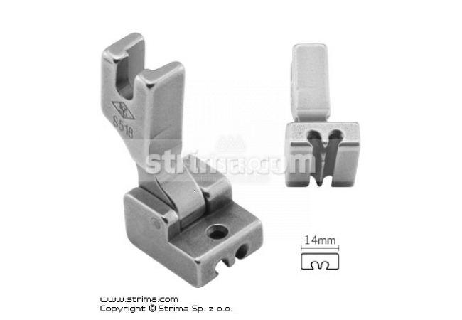 Patka na skrytý zip pro šicí stroje S518