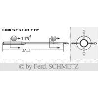 Strojové jehly pro průmyslové šicí stroje Schmetz TQX1 100