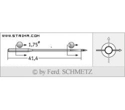 Strojové jehly pro průmyslové šicí stroje Schmetz TQX3 100