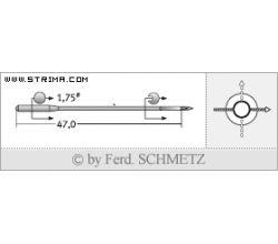 Strojové jehly pro průmyslové šicí stroje Schmetz TQX7 80