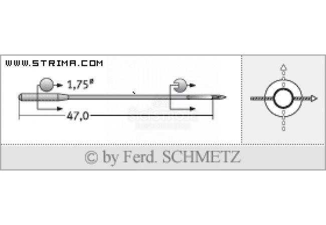 Strojové jehly pro průmyslové šicí stroje Schmetz TQX7 100