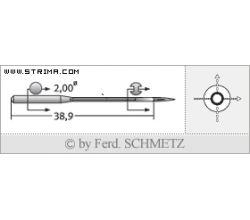 Strojové jehly pro průmyslové šicí stroje Schmetz UY 128 GAS 70