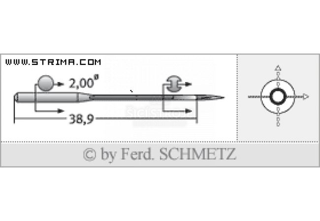 Strojové jehly pro průmyslové šicí stroje Schmetz UY 128 GAS 80