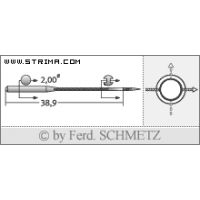 Strojové jehly pro průmyslové šicí stroje Schmetz UY 128 GAS SKL 80