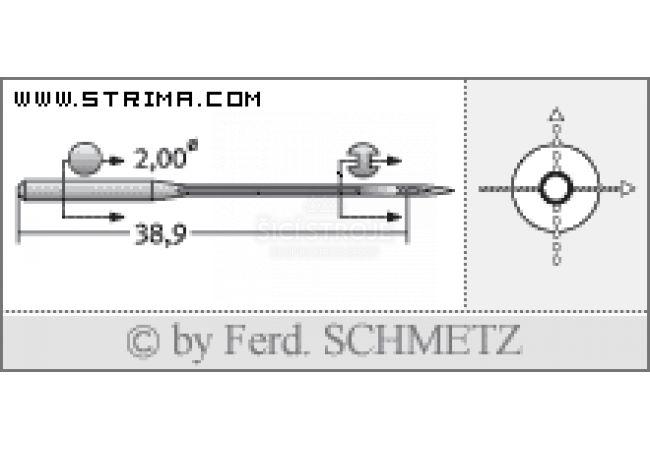 Strojové jehly pro průmyslové šicí stroje Schmetz UY 128 GAS SPI 70