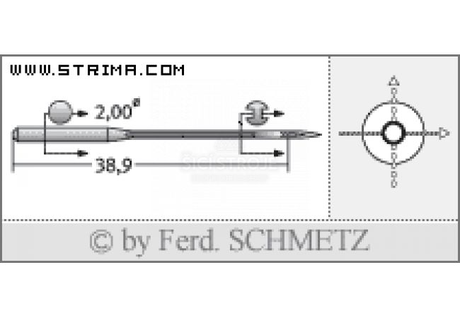 Strojové jehly pro průmyslové šicí stroje Schmetz UY 128 GAS SPI 80