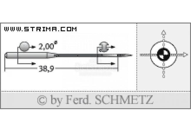 Strojové jehly pro průmyslové šicí stroje Schmetz UY 128 GBS 75
