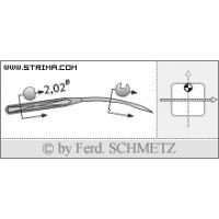 Strojové jehly pro průmyslové šicí stroje Schmetz UY 154 GAS 80