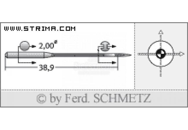 Strojové jehly pro průmyslové šicí stroje Schmetz UY 128 GAS SES SERV7 80