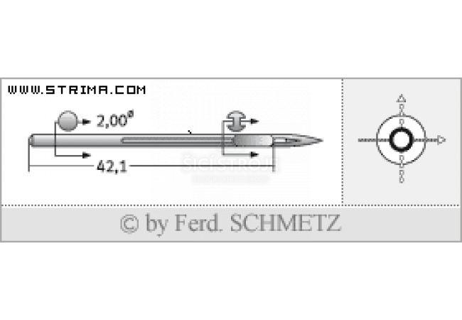 Strojové jehly pro průmyslové šicí stroje Schmetz UY 143 GS 140