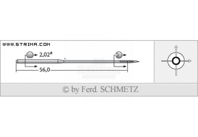 Strojové jehly pro průmyslové šicí stroje Schmetz 2331 F LG 130