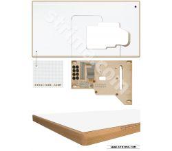 Deska stolu pro SIRUBA overlock 30497