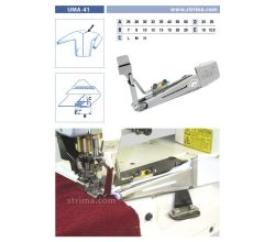 Zakladač pro šicí stroje UMA-41 45/17x20/10 M