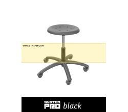 Průmyslová židle SYSTEM PRO BLACK 1A+2A+4A+5B
