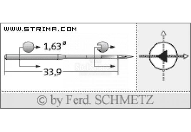 Strojové jehly pro průmyslové vyšívací stroje Schmetz DBXK5 SD1 80