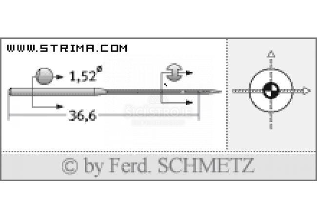 Strojové jehly pro průmyslové šicí stroje Schmetz UY 118 GAS SES 75