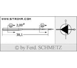Strojové jehly pro průmyslové šicí stroje Schmetz 134-35 D 90
