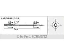 Strojové jehly pro průmyslové šicí stroje Schmetz 780 C 160