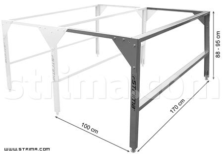 Pracovní stůl dílenský kovový, ponk