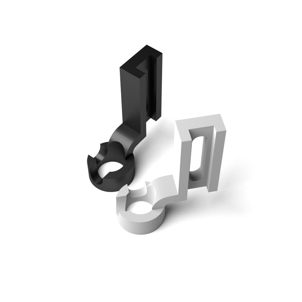 Quiltovací patky pro pravítka, vyšší - plast 2ks