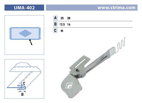 Zakladač pro šicí stroje UMA-402 25/12,5 M