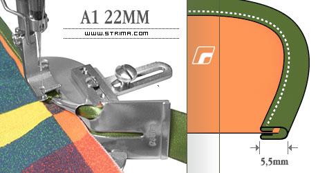 Zakladač pro šicí stroje A1 22MM
