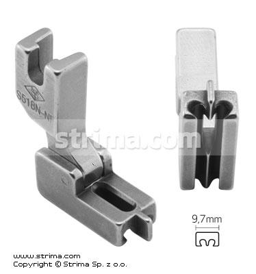 Patka na skrytý zip S518N-NF